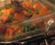 Petits pois et carottes nouvelles au miel