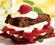 Petits shortcakes au chocolat et aux fraises