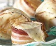 Pétoncles grillés enrobés de pancetta