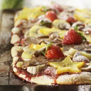Pizza aux fruits 1