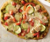 Pizzas au thon et à la Mozzarella fraîche