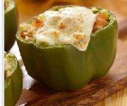 Poivrons verts farcis de légumes