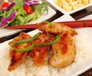 Poulet à l'orientale sur lit de riz