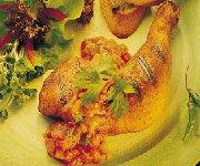 Poulet en croûte chili avec sauce à la salsa