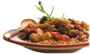 Ragoût de boeuf à l'orge et aux légumes