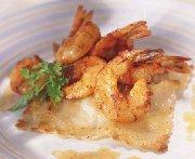 Raviolis de pétoncles et crevettes au paprika