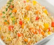 Riz brun aux légumes et orzo pilaf