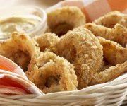 Rondelles d'oignons non frites