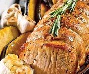 Rôti de porc et courge au four