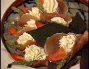Roulés de homard au fromage à la crème