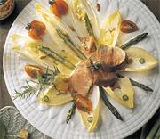 Salade d'asperges et de filet de porc à la belge