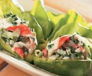 Salade au crabe et aux épinards