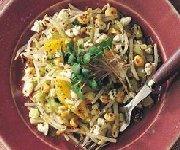 Salade aux fèves germées et au fromage feta