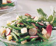 Salade aux haricots verts et au fromage havarti