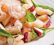 Salade aux pommes et crevettes