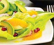 Salade d'avocat et d'orange