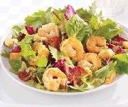 Salade bistro crevettes et bacon