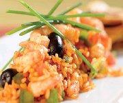 Salade camarguaise aux crevettes de Matane