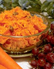 Salade de carottes et raisins