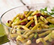 Salade classique aux trois haricots