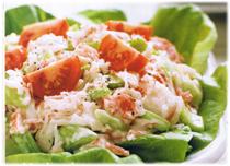 Salade Crabe délectables aux tomates
