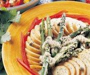 Salade d'asperges et de poires au parmesan