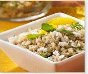 Salade d'orge et de quinoa à l'orange et feta