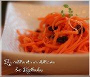 Salade de carottes râpées à l'orange et à la cannelle