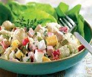 Salade de chou-fleur au jambon et au gouda