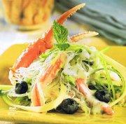 Salade de crabe aux bleuets