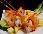 Salade de crevettes asiatique