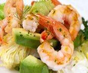 Salade de crevettes et d'avocat