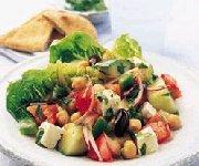 Salade de féta aux pois chiches