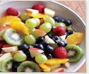 Salade de fruits au gingembre confit