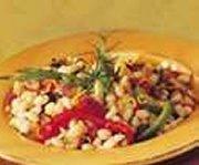 Salade de haricots blancs aux petits légumes