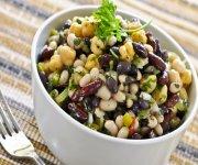 Salade de haricots multicolores
