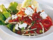 Salade de haricots rouges à la roquette, au féta et à la tapenade