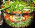 Salade de lentilles et poivrons rouges
