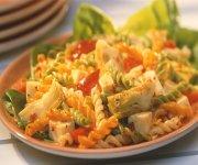 Salade de pâtes fusilli aux légumes