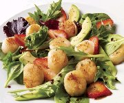 Salade de pétoncles au balsamique