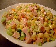 Salade de pois chiche et jambon