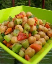 Salade de pois chiches marinée