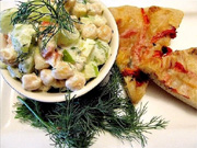 Salade de pois chiches rafraîchissante et sa vinaigrette crémeuse à l'aneth