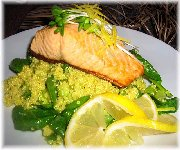 Salade de quinoa et saumon