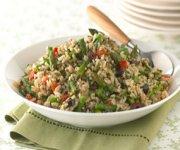 Salade de riz brun et sauvage à la toscane