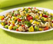 Salade de riz sauvage et de pois chiches
