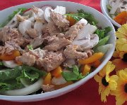 Salade de saumon et sa vinaigrette à l'aneth