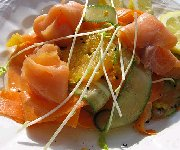 Salade de saumon fumé et d'orange