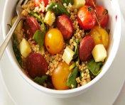Salade de tomates cerises grillées au Cheddar