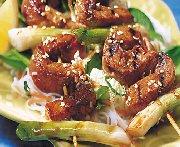 Salade de vermicelles et porc teriyaki